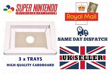 3x SNES CARDBOARD INSERT REPLACEMENT GAME INNER TRAY PAL NTSC SUPER NINTENDO