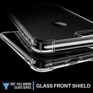 360° CLEAR TPU Shockproof BACK Case Protector Cover For Samsung Galaxy NOTE 8