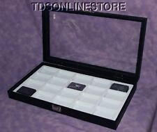 20 SLOT GLASS TOP DISPLAY CASE CAN HOLD 20 LIGHTERS WHT