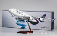 1/150 THAI Airplane Model Boeing 747 Passenger Plane LED Voice Light 47cm Gift