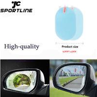 2PCS Oval Car Auto Anti Fog Rainproof Rear View Mirror Protective Film Accessory