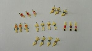 100pcs Model 1:150 N Model Train Scenery Swimming figures painted beach People