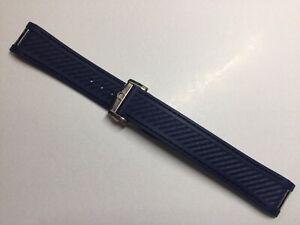 20MM BLUE RUBBER REPLACEMENT BAND STRAP BRACELET FOR OMEGA AQUA TERRA
