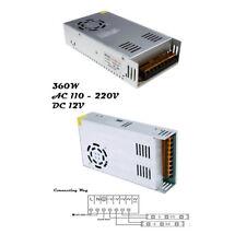 LED Light AC DC Power Supply Adapter Transformer 12V 360W For LED Strip Lighting