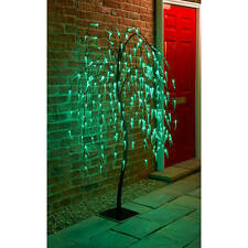 5ft Solar Powered Weeping Willow Summer Tree LED Outdoor Garden Lights Free Post