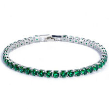 New Summer Holiday Jewelry Gifts Charm Green Citrine Gems Women Silver Bracelets