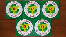 5x Recycle Botellas De Plastico emblem stickers decals Recycling Plastic Bottles