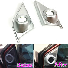 For Honda CRV 17 Car Front Door A Pillar Stereo Speaker Cover Trim Matte ABS x2
