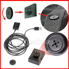 Black Mini Button Hidden Spy Camera DVR Camcorder Detective Video Recorder Cam
