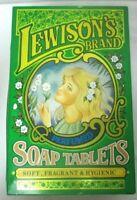 Vintage English Huntley Boorne & Stevens Lewison's Brand Soap Tablets Tin Box
