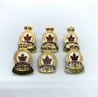 Royal Canadian Legion Associate Member Metal Pin Pinback Lot 5 10 15 25 Years
