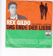 "Single 7"" Rex Gildo ""Das Ende der Liebe"" Coverversion Tell Laura I love her"