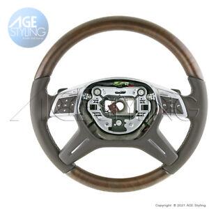 OEM Mercedes-Benz GL350 GL450GL550GL63 ML350 Ash Brown Wood Mocha Steering Wheel