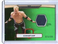 WWE Christian 2010 Topps Platinum Green Event Used Shirt Relic Card SN 73 / 399