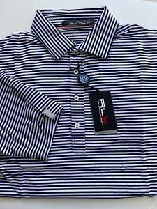 NWT RLX Ralph Lauren - Biltmore White Black Mu Golf Shirt UPF 40+ M,L,XL, XXL