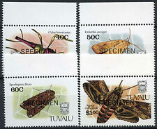 Tuvalu 1991 SG#601-4 Insects Optd Specimen MNH Set #A86250