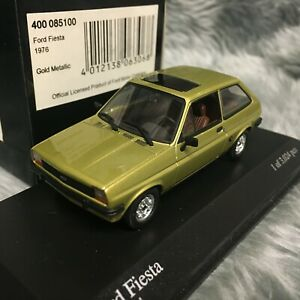 Minichamps 1:43 Ford Fiesta Mk1 1976 Solar Gold Metallic 400-085100