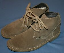 Bjorndal Brown Suede Ankle Boots Sz 5 Navigator Jr Boys