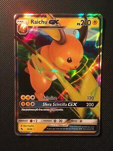Carta Pokemon RAICHU GX 20/68 - Rara Destino Sfuggente Ita MINT