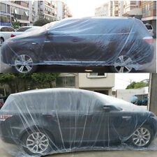 Disposable Plastic Car Cover Paint/Dust Cover Snow/Rain Cover Large Elastic Hem