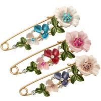 Vintage Alloy Rhinestone Crystal Flower Wedding Bridal Bouquet Brooch Pin Women