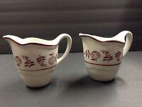Vintage Shenango China Restaurant Ware Pottery Set of 2 Creamer