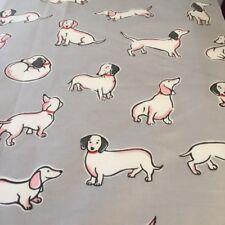 Cath Kidston Mono sausage Dog 138x99cm light cotton percale fabric material