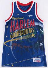 NEW NWOT VINTAGE 90S HARLEM GLOBETROTTERS REEBOK BIG PRINT BASKETBALL JERSEY M