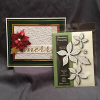 Christmas cutting dies Blooming Poinsettia metal die set Poppystamps 861 Flowers