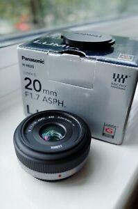 Panasonic lumix 20mm f1.7 mft micro four thirds lens