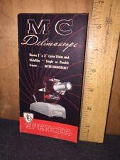 Vintage MC Delineascope Slide Product Pamphlet ORIGINAL