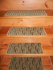 "13 = STEPS 9"" X 24"" + 1 Landing 24'' x 27'' Heat Set Nylon  Carpet Stair Treads."