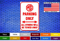 """MG Parking Only 8""""x12"""" American White Aluminum Sign Choose Color Novelty Buy Now"""