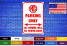 "MG Parking Only 8""x12"" American White Aluminum Sign Choose Color Novelty Buy Now"