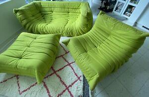 Ligne Roset Togo Sofa+fireside Chair+footstool