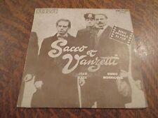 45 tours JOAN BAEZ & ENNIO MORRICONE la ballata di sacco e vanzetti