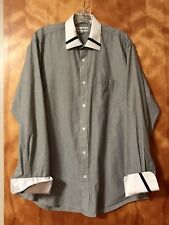Licasini Men's Button Down Dress Shirt, with French Cuffs.  Size: 16 1-2 34-35.