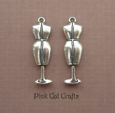 5 x DRESSMAKERS SEWING DUMMY CLOTHES MODEL Tibetan Silver 3D Charms Pendants