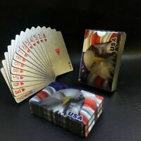 2 Decks Luxury 24K Silver Foil Poker Playing Cards Waterproof Plastic Set Gift