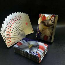 2 Decks Luxury 24K Silver Foil Poker Playing Cards Waterproof Plastic Set Gift