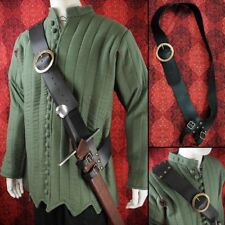 Heavy Leather Medieval Sword Baldric With Brass Buckle Ideal for Re-enactment