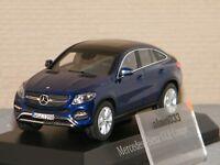 Mercedes Benz GLE Coupé 2015 Blue metallic NOREV 1/43 Ref 351338