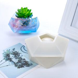 Flowerpot Concrete Silicone Mold For Succulent Plant Craft Decoration 12.5x6.6cm