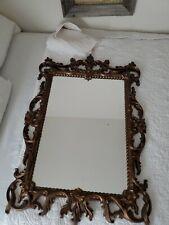 Vtg Large Turner Ornate Floral Wall Mirror ~Hollywood Regency Glam♡