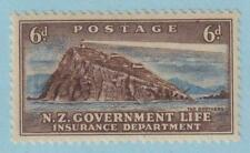 NEW ZEALAND OY35 LIFE INSURANCE  MINT HINGED OG * NO FAULTS VERY FINE!