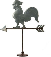 "Home Essentials 17"" Rooster Rustic Farm Metal Weather Vane Table Top Decoration"