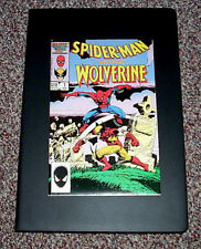 SPIDERMAN VERSUS WOLVERINE MARVEL COMICS #1 1986