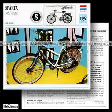 #049.10 SPARTA 50 SAXONETTE 1992 Fiche Moto Motorcycle Card