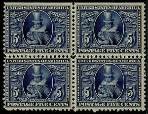 #330 VF-XF OG NH BLOCK OF 4 WITH PF CERT; NATURAL S.E. AT TOP CV $1,240 BQ2761