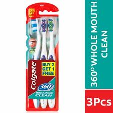 Colgate 360 Whole Mouth clean toothbrush SOFT Clean Teeth tongue -3 pc PACK AU